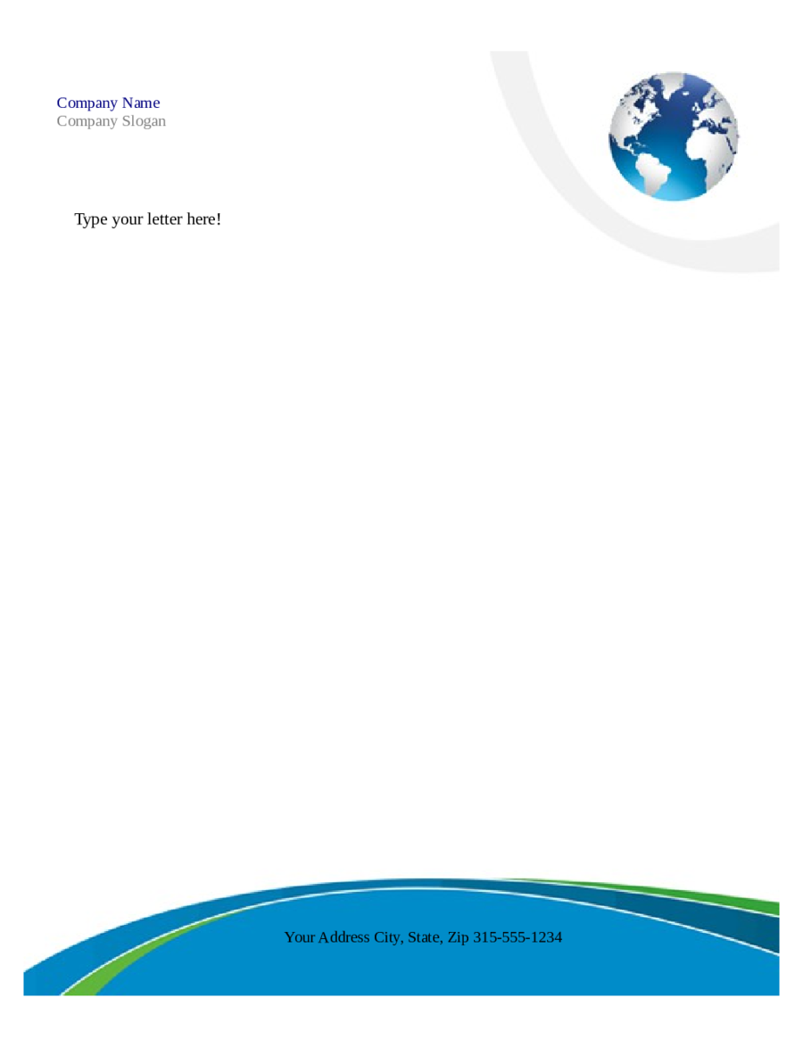 Free Printable Business Letterhead Templates Microsoft Word  Free Letterhead Samples