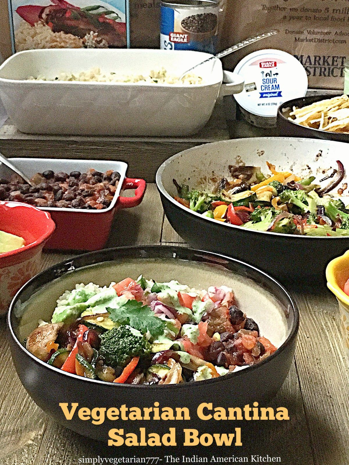 Learn How To Make Easy Healthy Tex Mex Vegetarian Cantina Salad Bowl Learn How To Order Online With Vegetarian Salad Recipes Savory Salads Vegetarian Salads