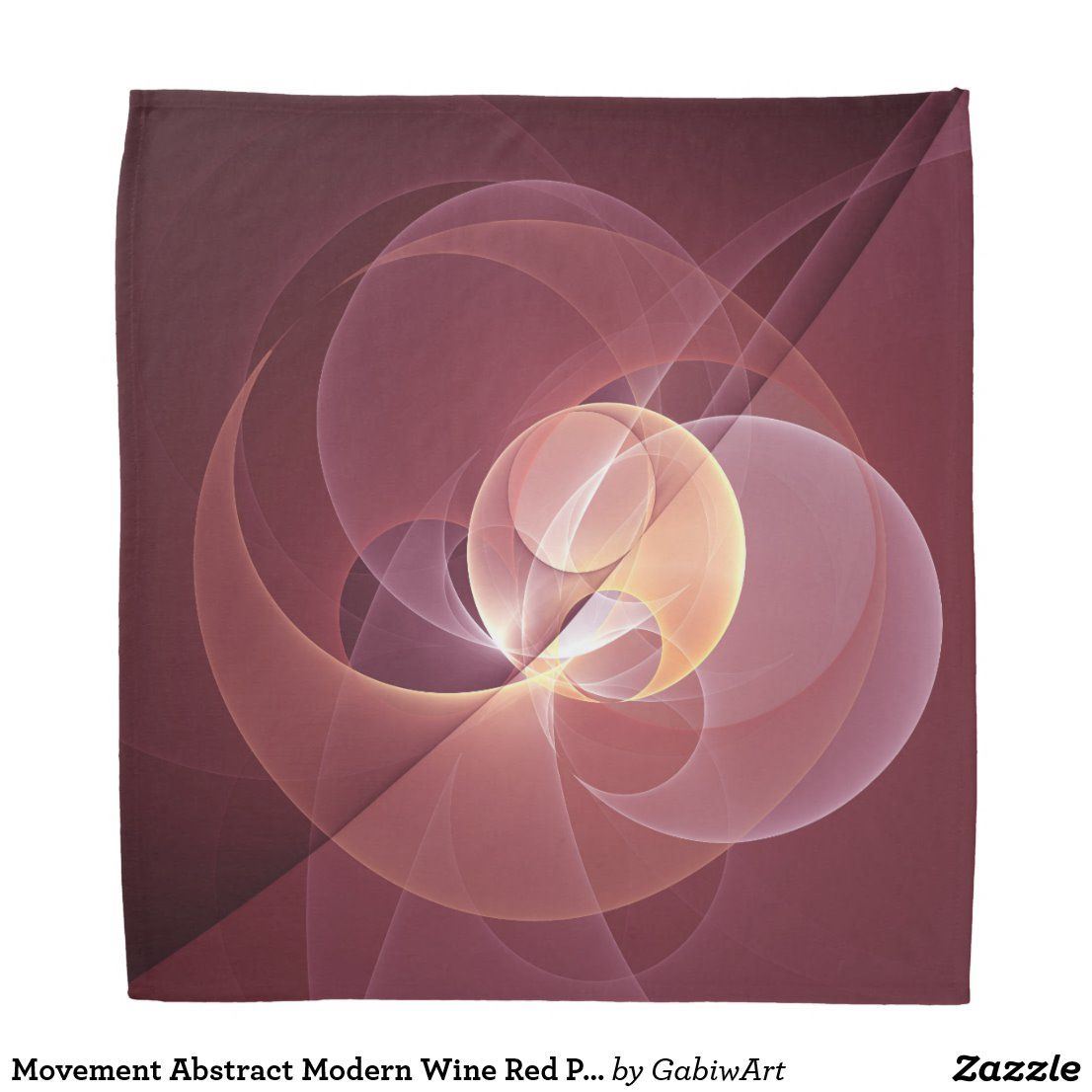 Movement Abstract Modern Wine Red Pink Fractal Art Bandana Zazzle Com In 2020 Fractal Art Inspirational Digital Art Abstract