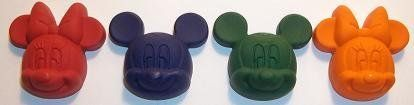 (40) Disney Mickey Mouse & Minnie Mouse Crayons- Birthday Party Favors Supplies- 10 Sets of 4 Crayons Crayons