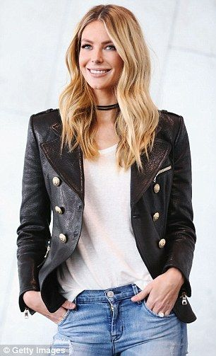 Edgy: The Newcastle native accessoried with an edgy choker style necklace and styled her l...
