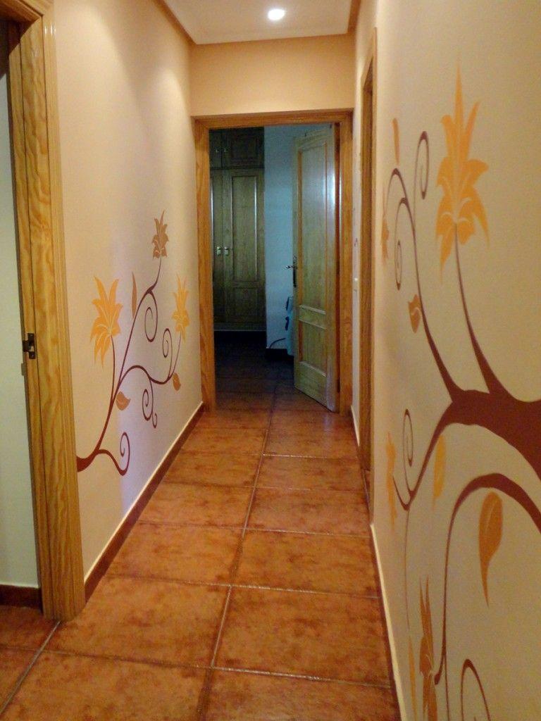 pasillos con vinilos decoracin zonas de paso pinterest decoracion de pasillos pasillos y vinilos