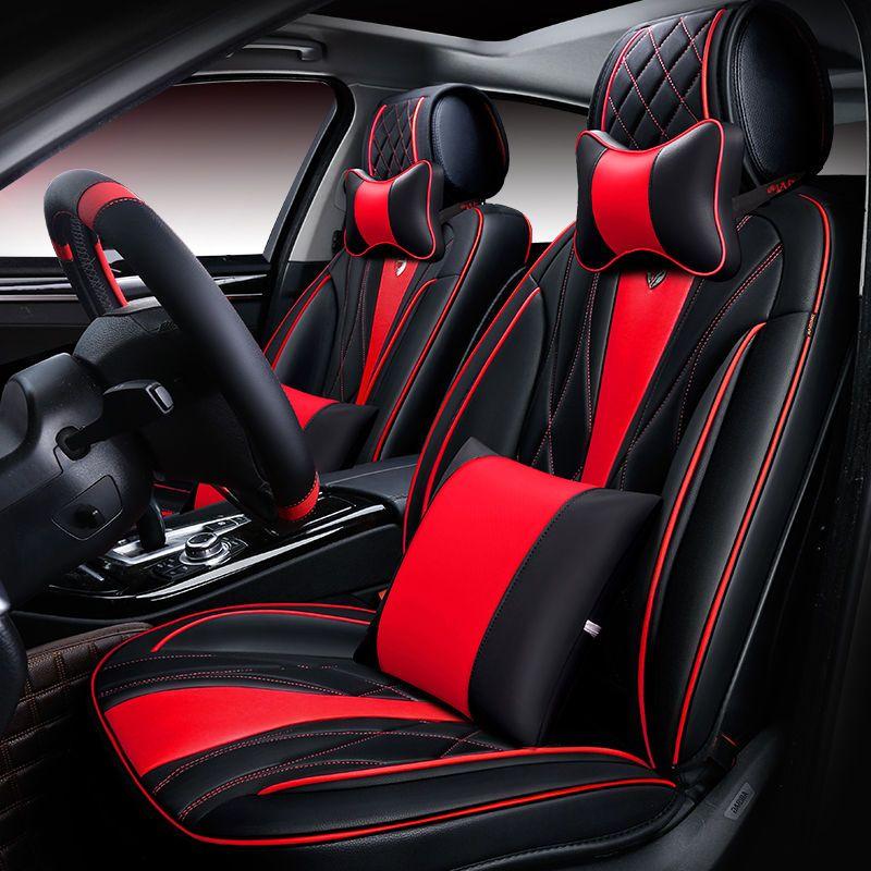 New 6D Car Seat CoverUniversal CushionSenior LeatherCar PadSport StylingCar Styling For Sedan SUV