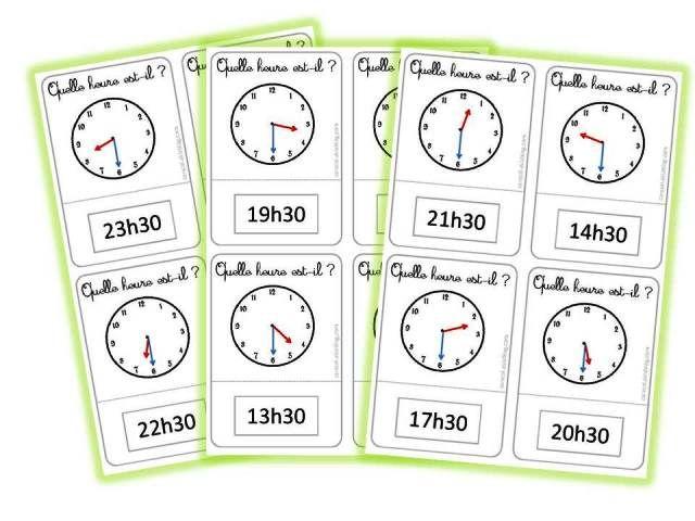 Jeu Quelle heure est-il? - Caracolus | Jeux maths ce1 ...