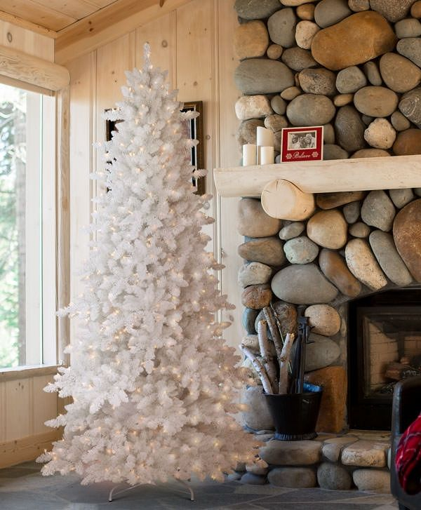 a2970dfee8c Flocked White Fir Deluxe Christmas Tree