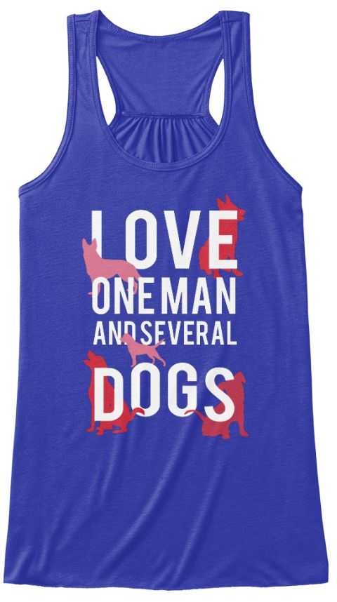 74a6c3d209eaed Love One Man And Several Dog s True Royal T-Shirt Front