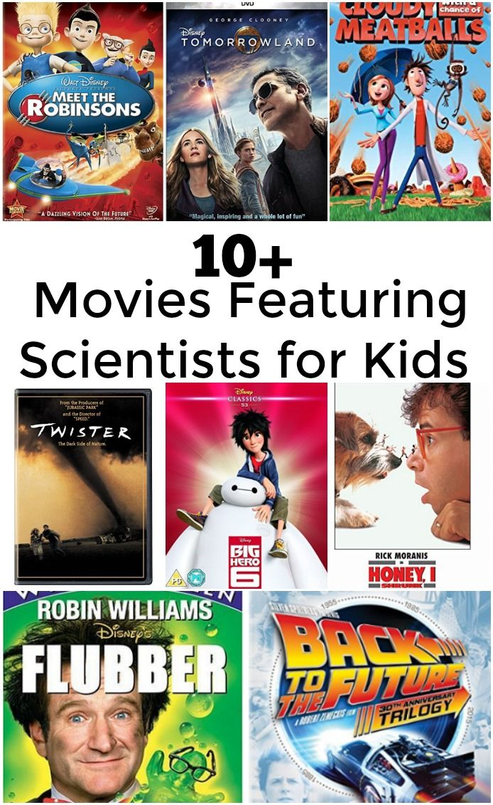 Movies Featuring Scientists for Kids - Great list of movies