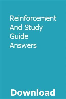 Reinforcement And Study Guide Answers   Study, What is ...