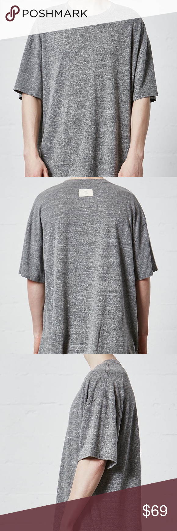 82a0768277a10 FOG Fear Of God Pacsun Essentials Grey T Shirt Med The Tri-Blend Boxy T