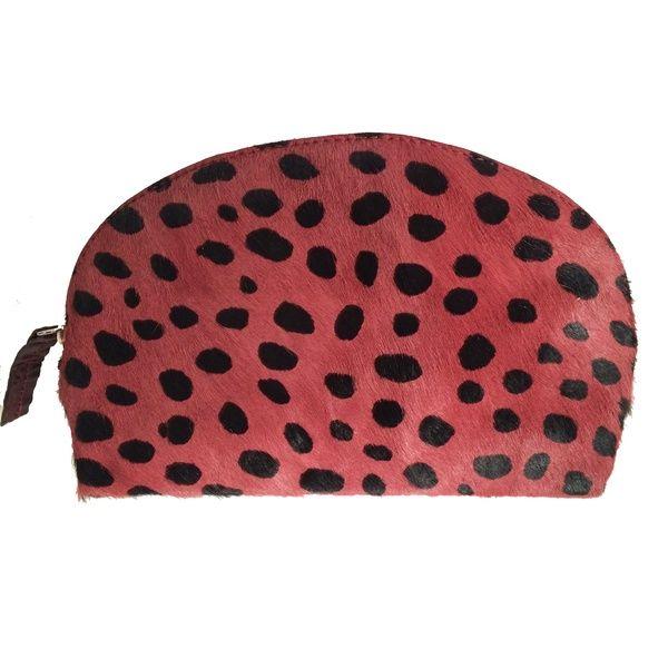 Gem Bag Raspberry & Black Calf Hair | Lucque | Wolf & Badger