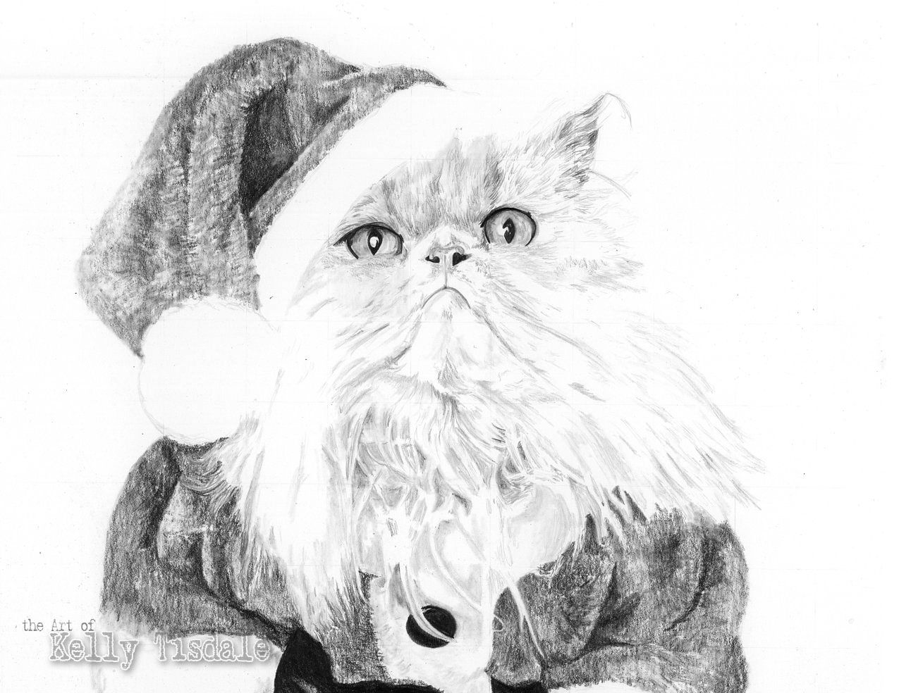 Christmas pencil drawings