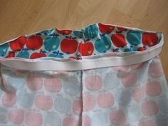Nähanleitung für Hosenbündchen mit Gummizug #fabrictape