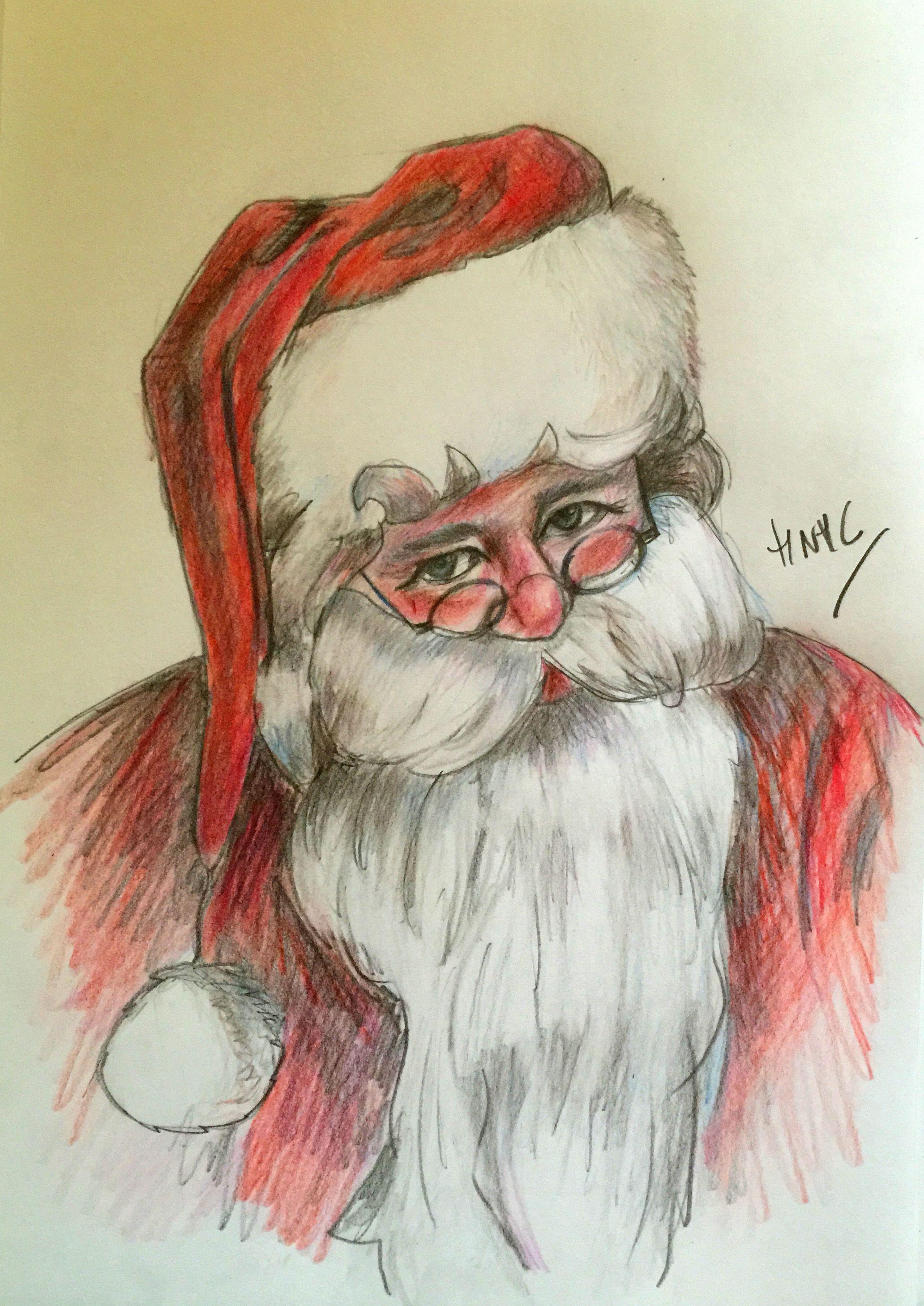 Como Dibujar A Papa Noel Papa Noel Noel Dibujos