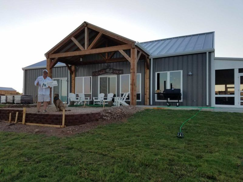 40x60 Steel Building Workshop located in Cleburne, TX # ...