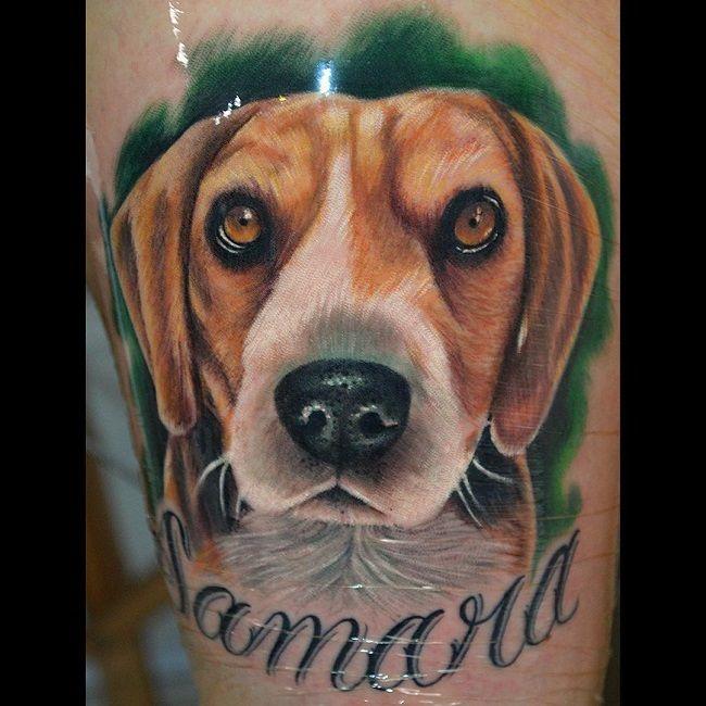 Animal Tattoo Designs Black And Grey Ink Beagle By Sanghyuk Ko