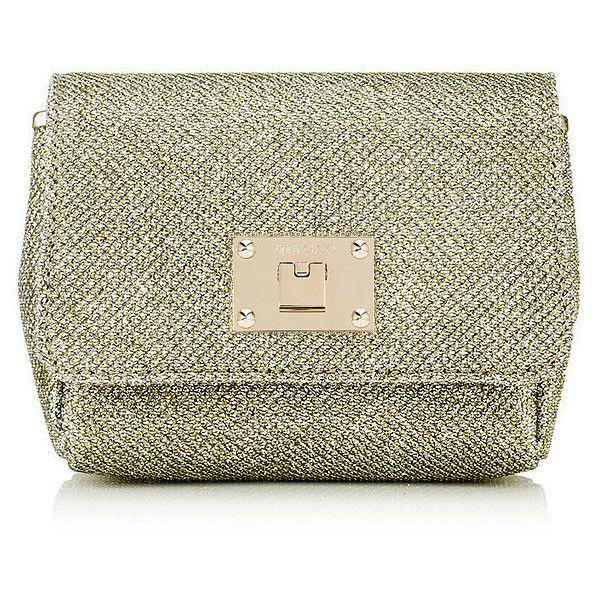 7b7449f779 Jimmy Choo RUBY Gold Lamé Glitter Fabric Clutch bag with Chain... (2 ...