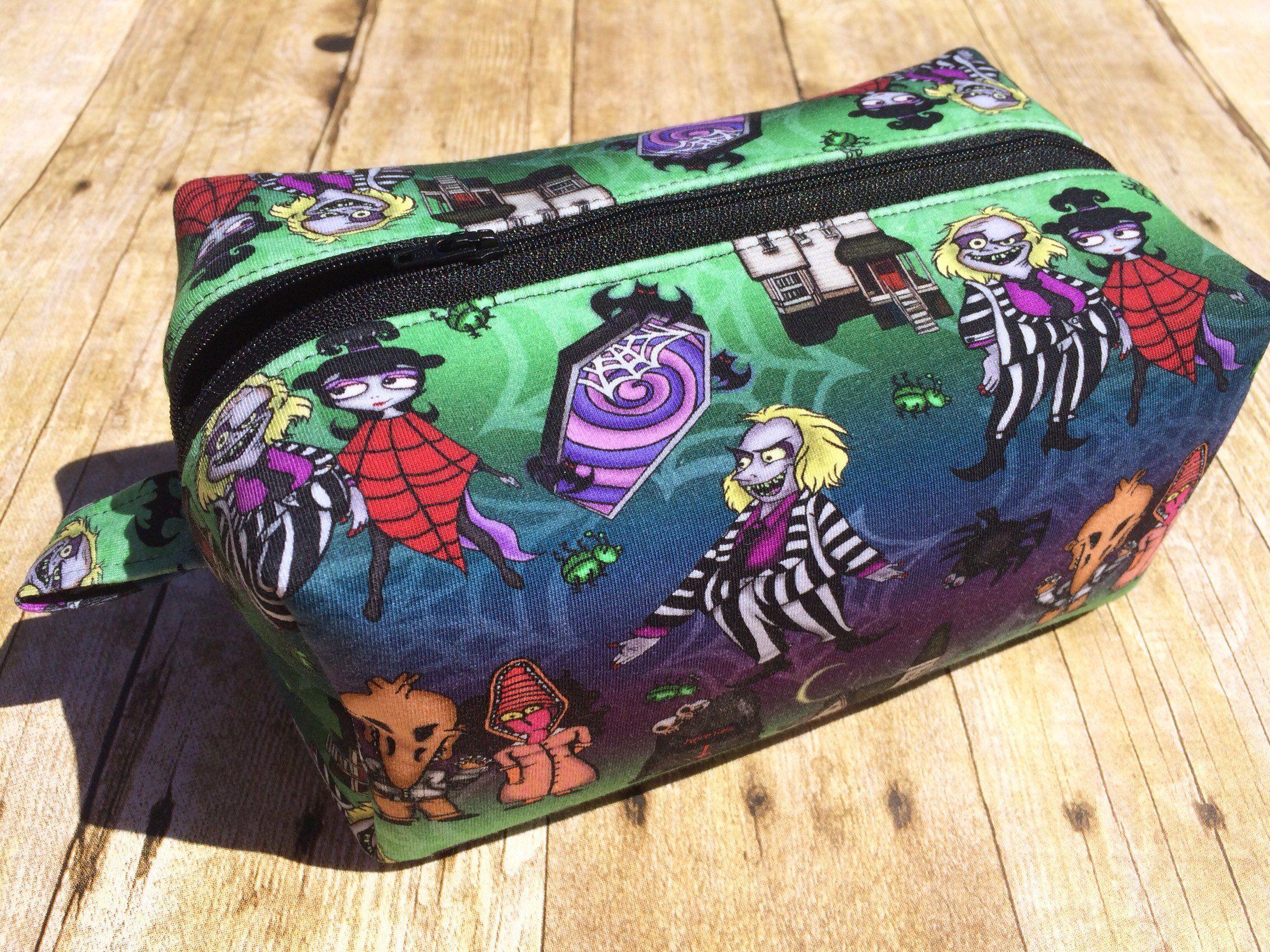 Beetlejuice boxy bag   makeup bag   halloween bag