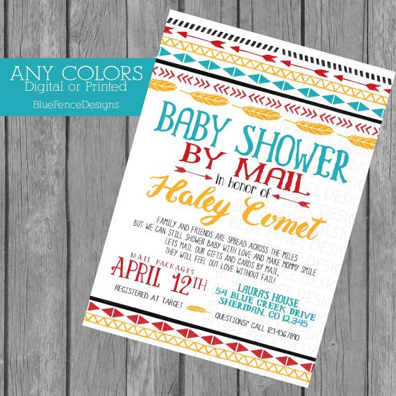 Across the miles baby shower invitation any colors baby shower by across the miles baby shower invitation baby shower by mail long distance filmwisefo