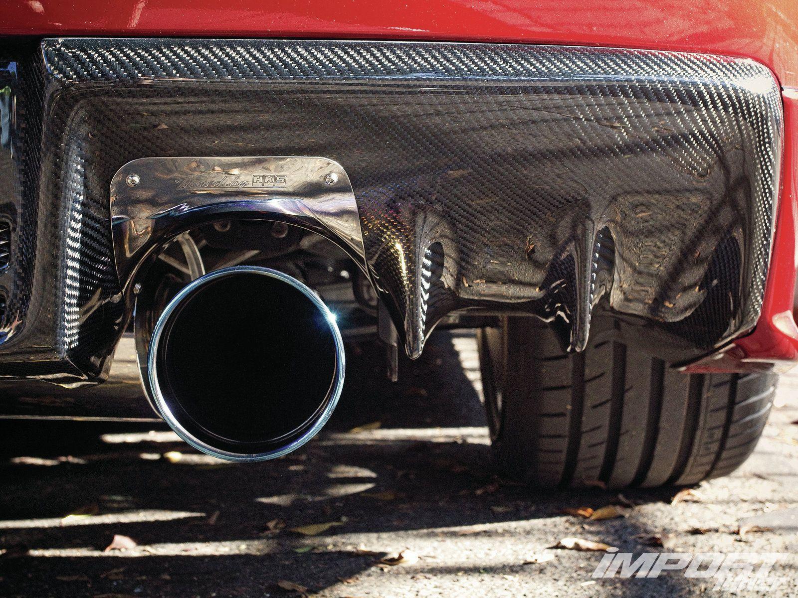 evo x seibon carbon fiber rear diffuser