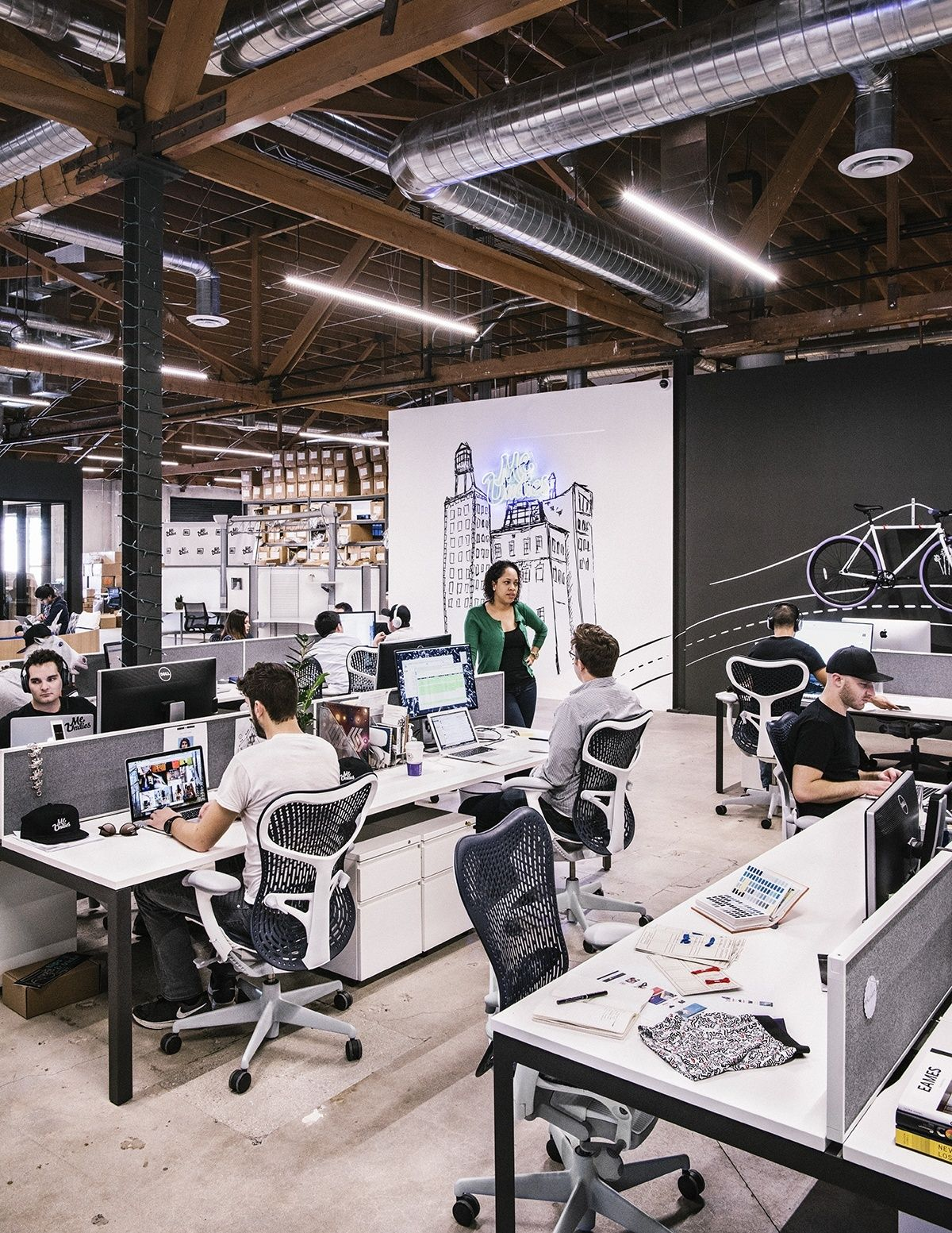 cool open office space cool office modern meundies los angeles hq creative office space cool desk loft office an exclusive tour of super