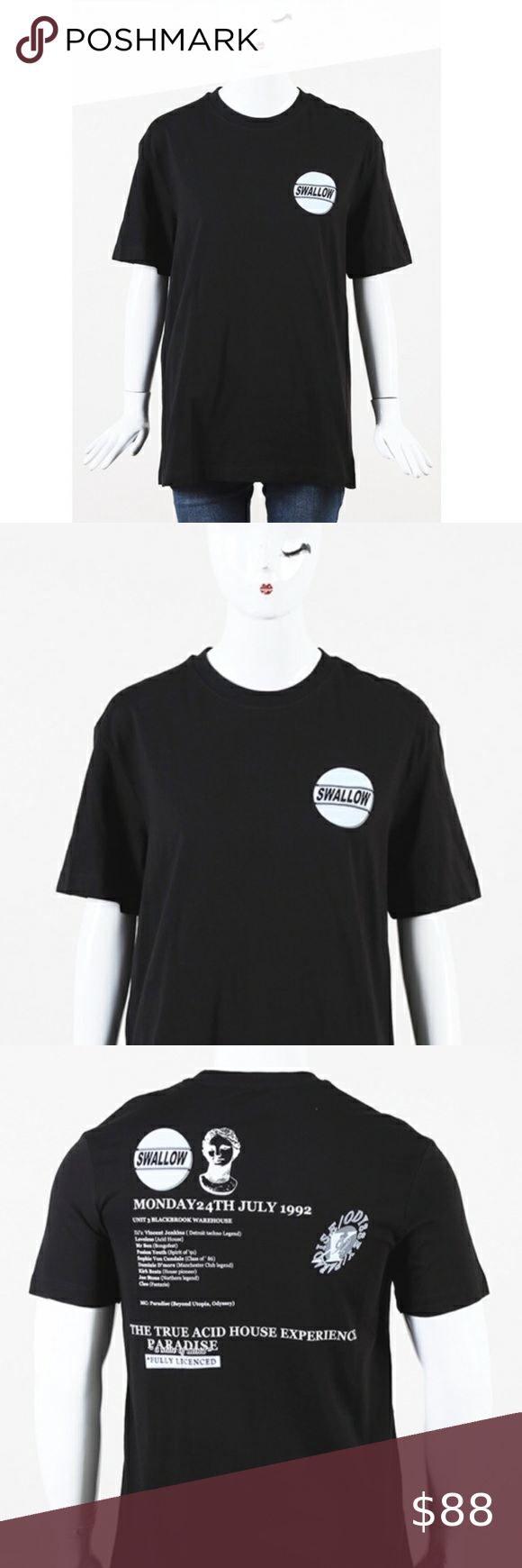 new mcq alexander mcqueen swallow graphic tee in 2020 clothes design mcq alexander mcqueen graphic tees pinterest