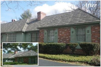 Residence Before After Decra Shake Xd Pinnacle Grey Www Decra Com Metal Roof Roofing Shingling