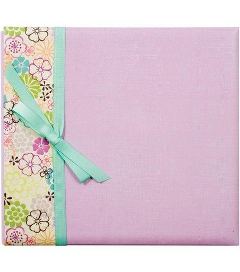 Lavender Floral 12''X12'' Postbound Album, , hi-res