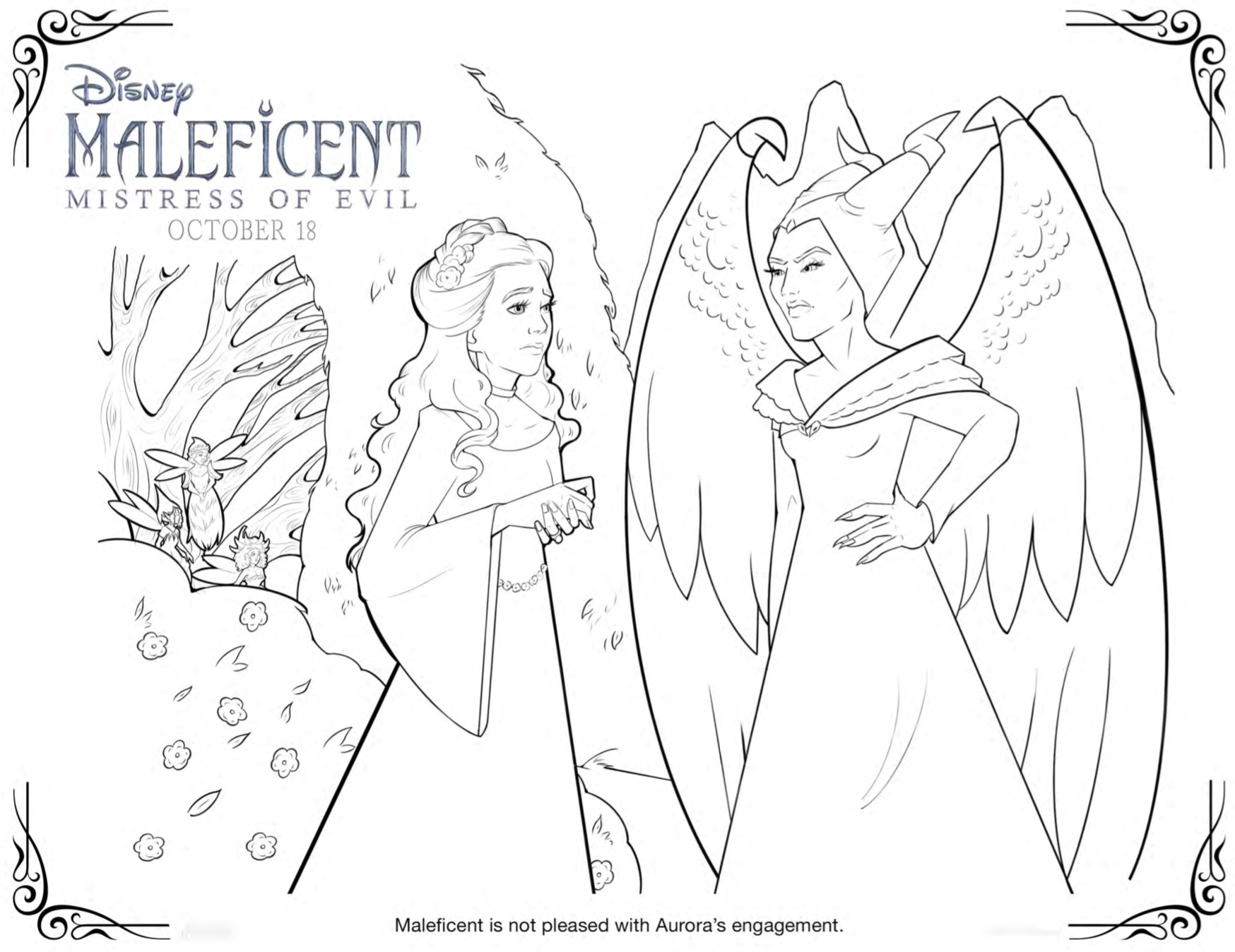 maleficent mistress of evil party ideas diy headband coloring sheets and recipes in 2020 maleficent coloring books dark disney maleficent mistress of evil party