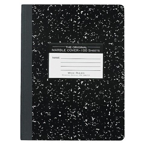 Roaring Spring Marble Cover Wide Rule Composition Book 9 3 4 X 7 1 2 100 Pages With Images Composition Book Wide Ruled Art School Supplies