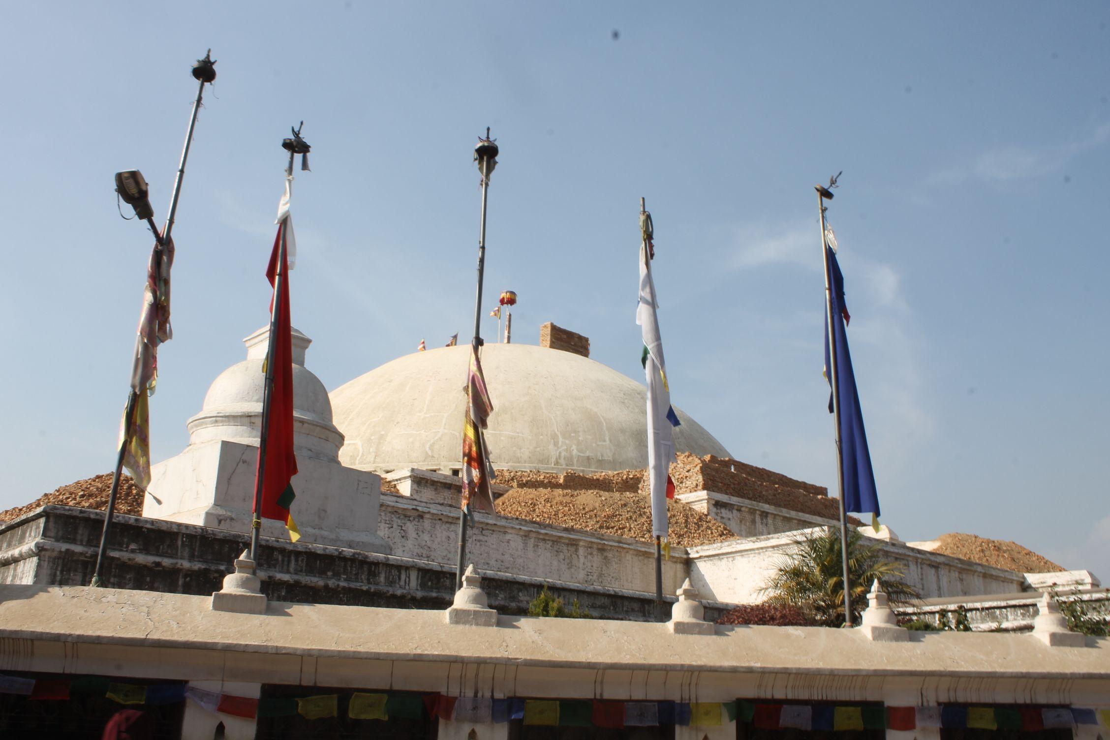 Boudha Nath, después del terremoto sin su famoso pináculo