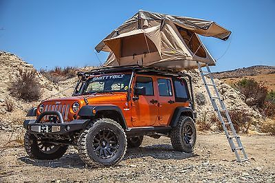 Overland Roof Top Camping Roof Top Tent Ladder Jeep Off Road