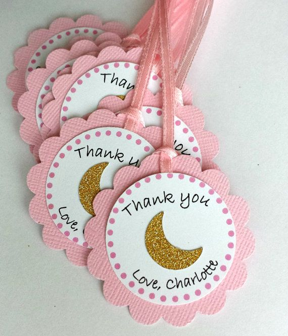 858a13e932 Half moon birthday baby shower party favor Thank by FiestaBella. Find this  Pin and more on I love you ...