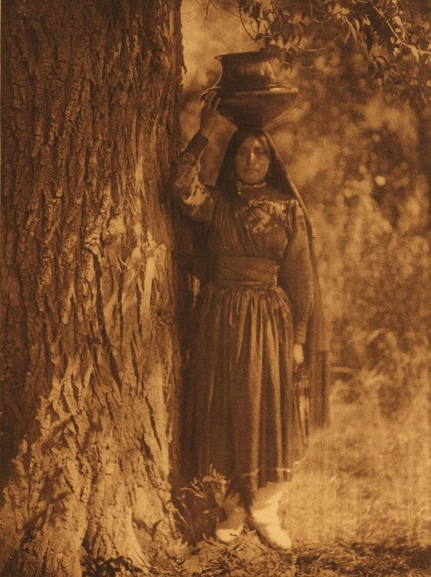 In The Forest-Taos, 1925, Edward Curtis