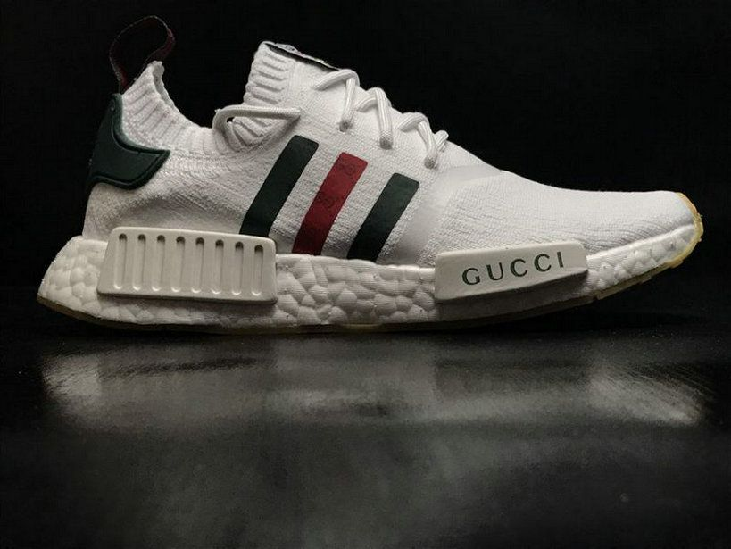 Adidas NMD R1 Pk Gucci Bee White Green Red Original Shoe  dce01bb4a