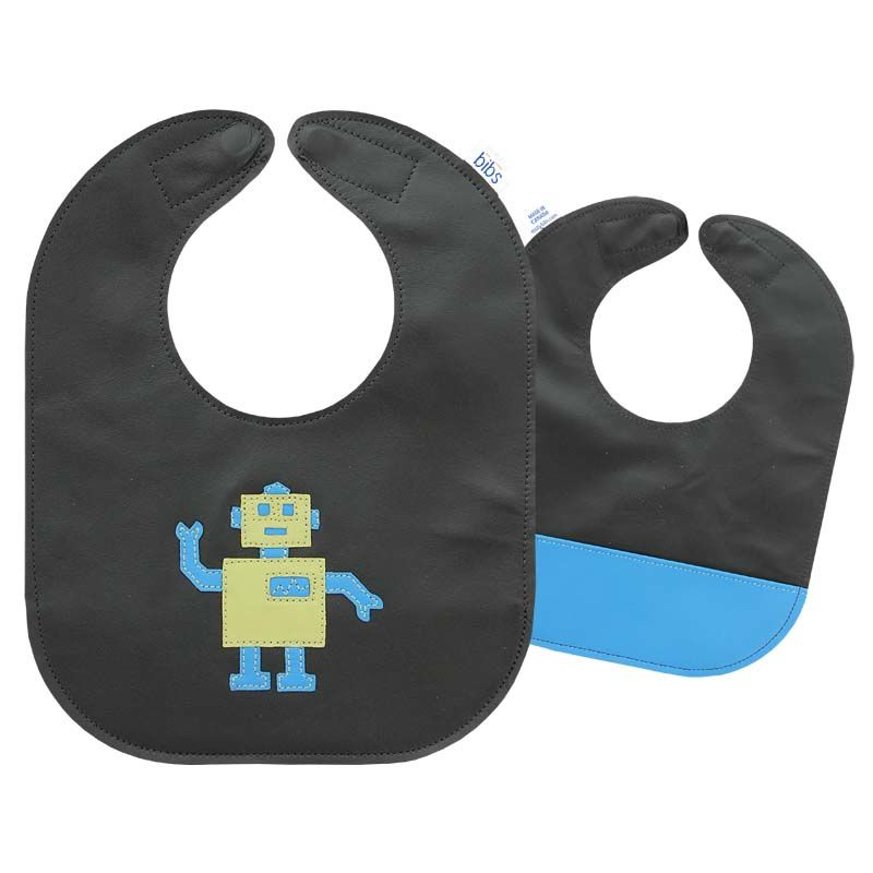 Leather applique bib.  The only bib you'll ever need!