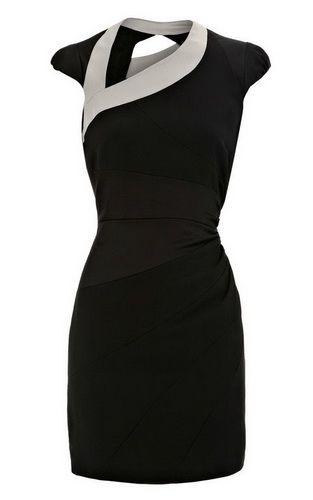7ab83b833adc Karen Millen Asymmetric Body Con Dress Black