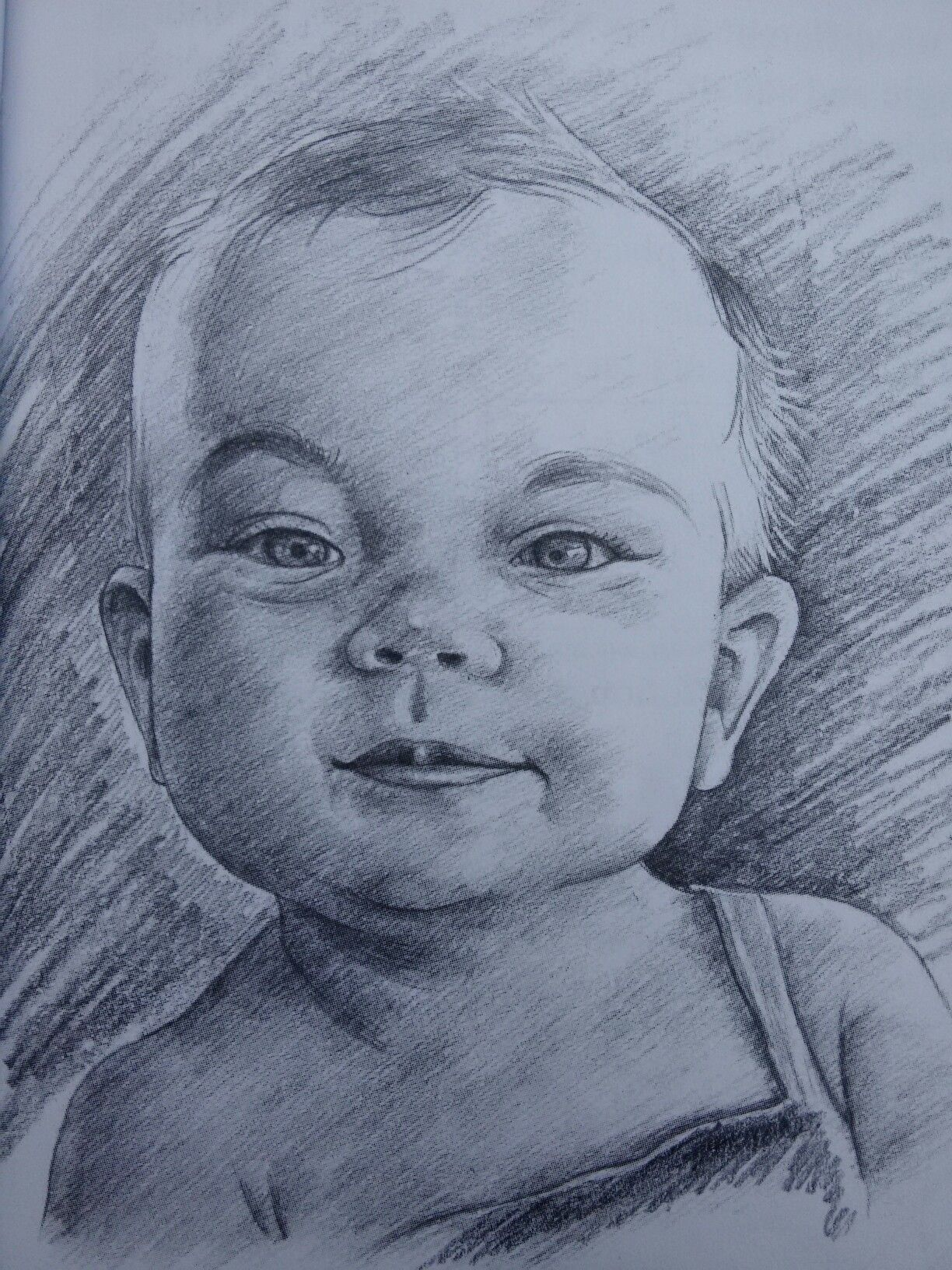 baby boy sketch