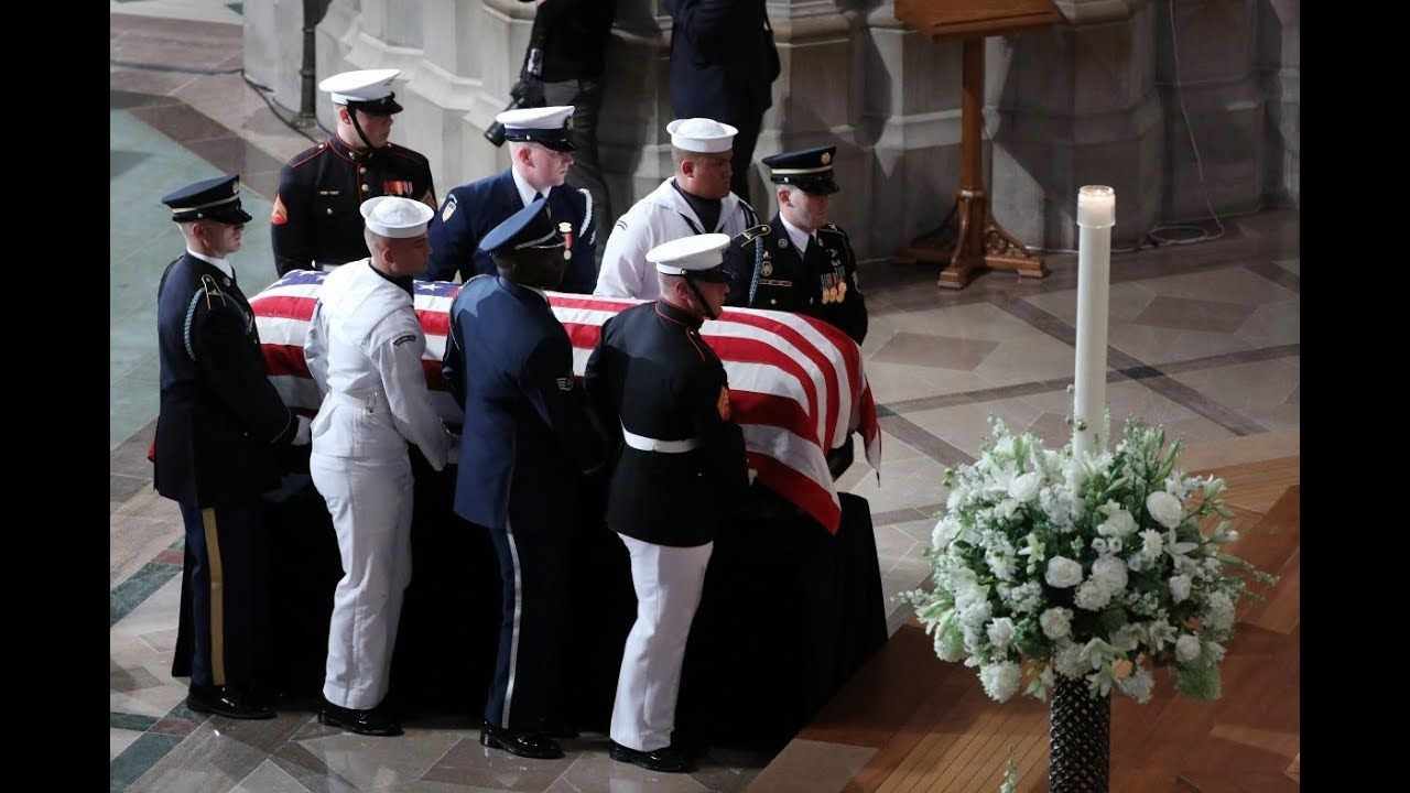 John McCain eulogized by Obama, Bush at memorial service