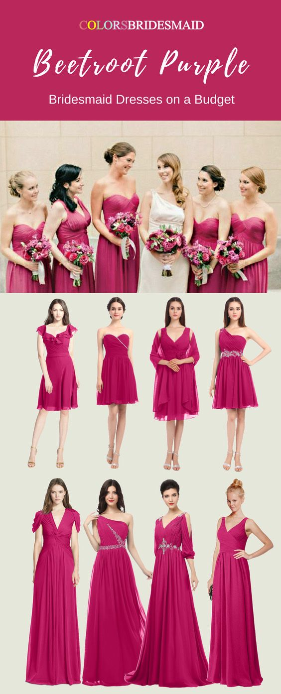 Amazing Beetroot Purple Bridesmaid Dresses in Short and Long Styles ...