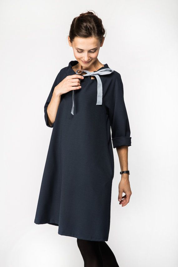 Classic dress | French dress | Deep Blue dress | LeMuse classic ...