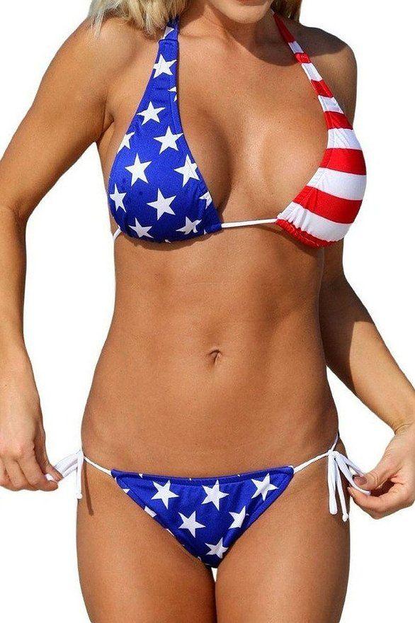 878f1f5764a9f Bien-aimée Women s Halter Two Pieces Bikini Set Swimsuit Swimwear Beachwear  at Amazon Women s Clothing store
