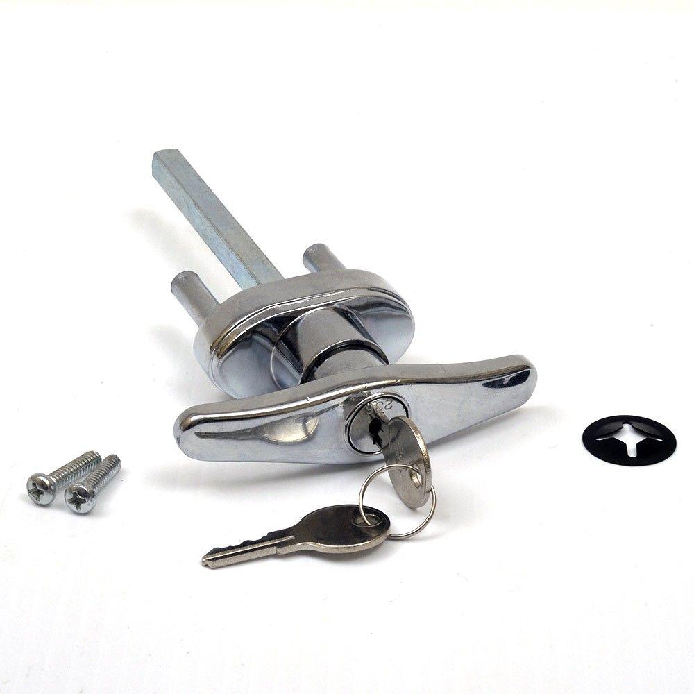 Garage Door Lock T Handle W 2 Keys Universal Replacement Rp