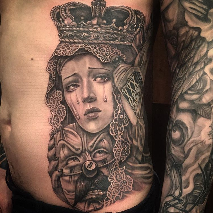 #skinartmag #tattoorevuemag #supportgoodtattooing #support_good_tattooing #tattoos_alday #tattooart #tattoocommunity #tattooedcommunity #tattooedpeople #tattoosociety #tattoolover #inklife #inkedlife #realtattoos #skinart #inkaddict #tattooed #tattooism #hernan #inked #chicanoart #chicanotattoo #mariatattoo #에르난 #타투이즘 #치카노 #강남타투