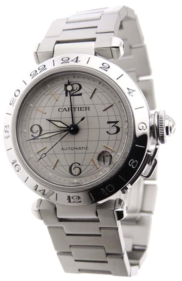 57b7d799fa400 Cartier Pasha C GMT Stainless Steel Automatic 35mm Date Analog Watch. Free  shipping and guaranteed authenticity on Cartier Pasha C GMT Stainless Steel  ...
