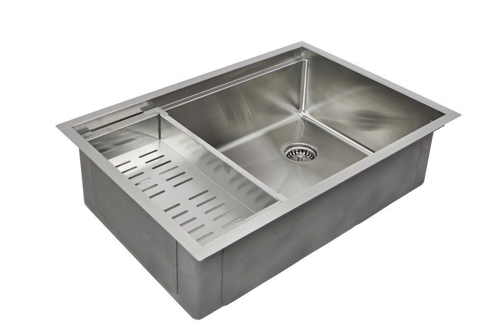 28 Ledge Sink 8 Depth Single Bowl Offset Drain Right 5ls28r 8 Ledge Sink Sink Ledge Kitchen Sinks