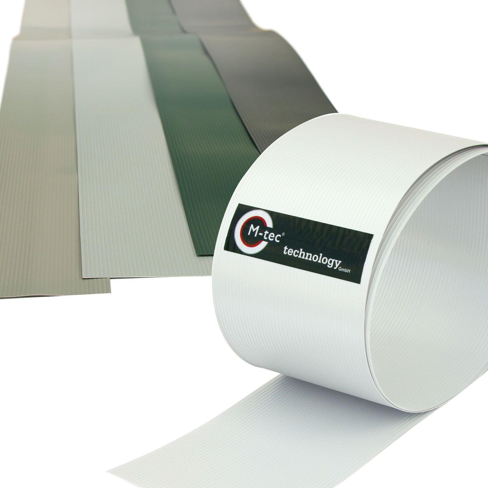 M tec technology bietet auch Hart PVC Sichtschutzstreifen in 5