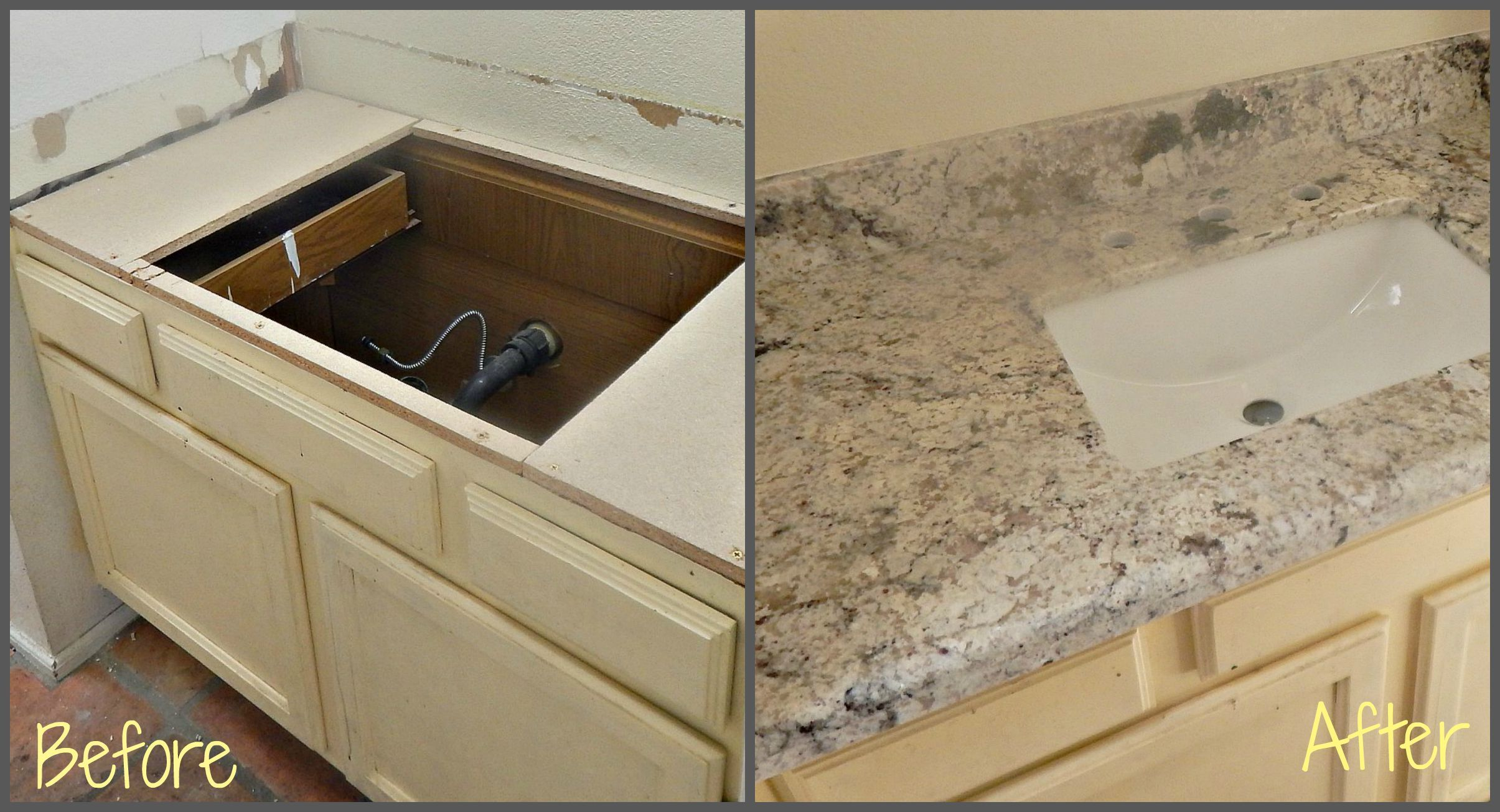 Countertop Remodel With White Springs Granite Under Mount White Square Sink And Demi Bullnose Edge Countertop Remodel White Springs Granite Countertops