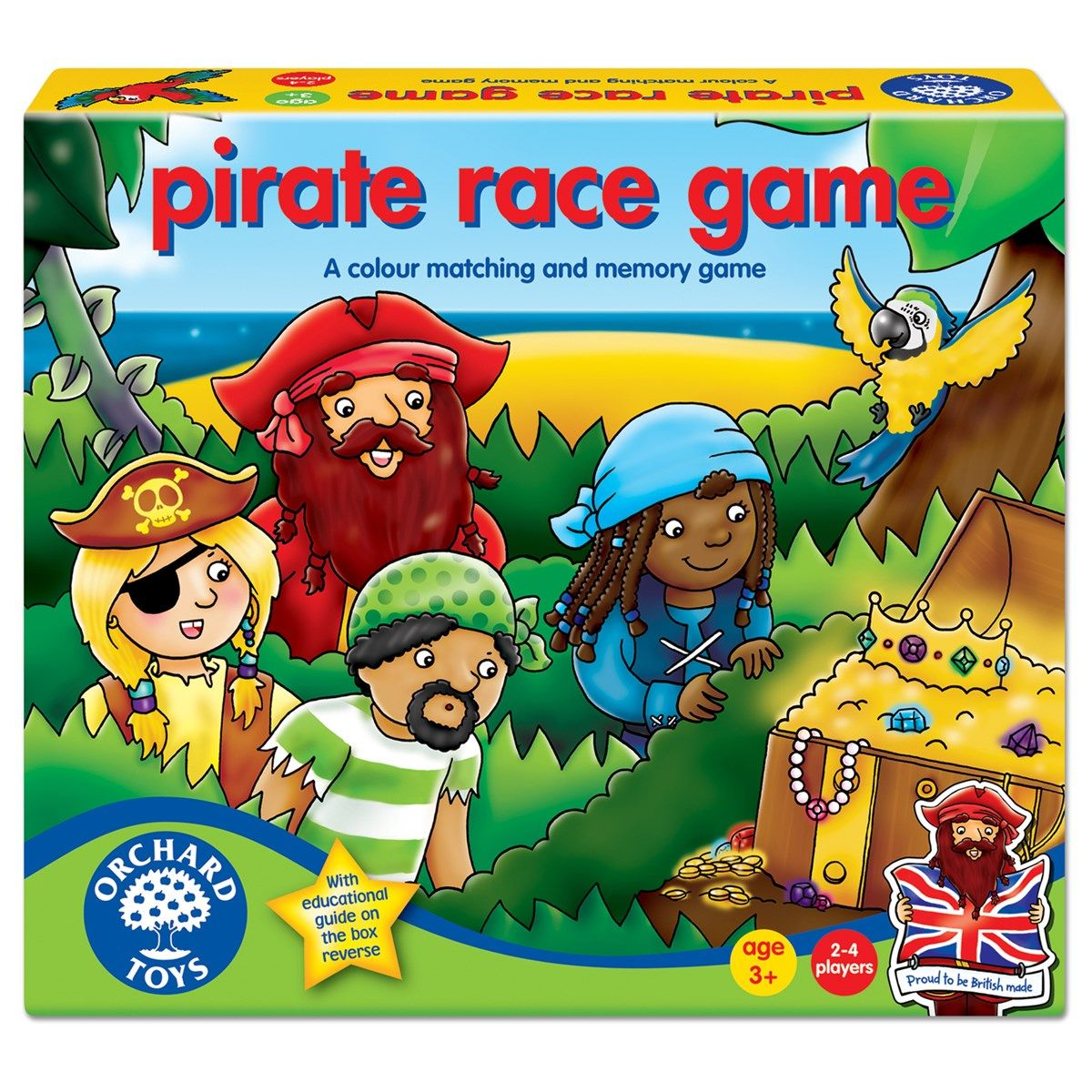 Pirate Race Board Game Orchard toys, Racing games