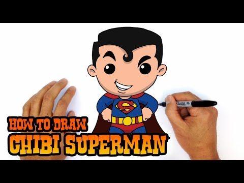 How To Draw Batman Chibi Beginners Art Lesson Youtube Superman Drawing Chibi Superman Cartooning 4 Kids