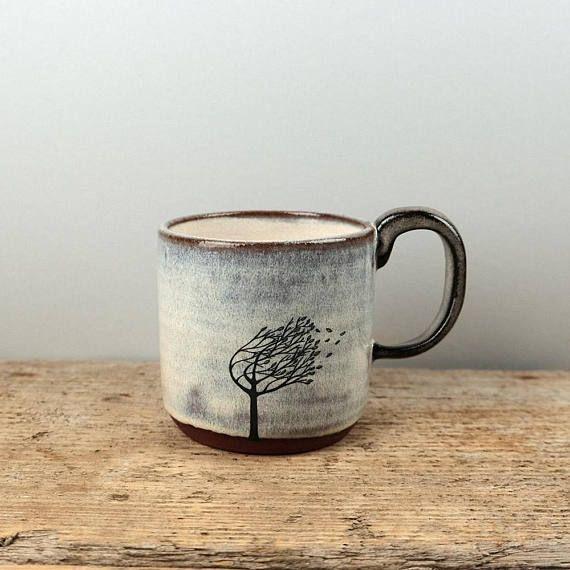 Windy Tree Mug Mugs Ceramic Sculpture Ceramics